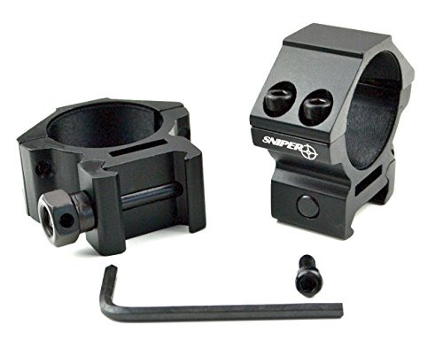 Pair of 30MM Rifle Scope Mount Rings - Choice of Low, Medium or High Profile - Picatinny Mount - For 30mm diameter Optics or Accessories - Black, Aluminum (LOW PROFILE)