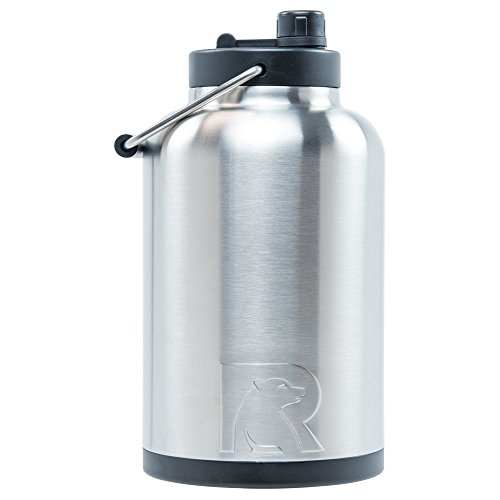 RTIC One Gallon Vacuum Insulated Jug, Stainless ()