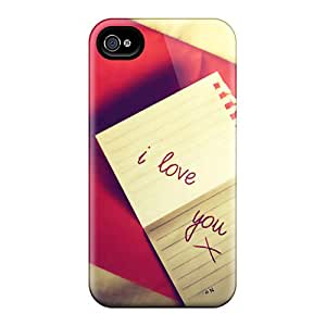 Awesome BCK5842SGFx Abrahamcc Defender Tpu Hard Case Cover For Iphone 4/4s- Msg Of Love