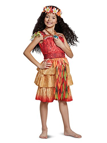 Disguise Moana Epilogue Deluxe Child Costume, Red, Size/(4-6x)