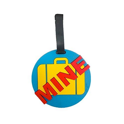 Mine Luggage Tag - Mine Blue 3-d Luggage Tag Large Heavy Duty Heavy Duty ID Tag