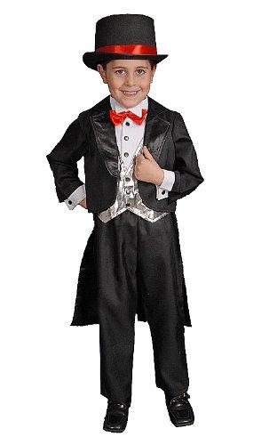 [Black Tuxedo Size Toddler 4] (Toddler Magician Costumes)