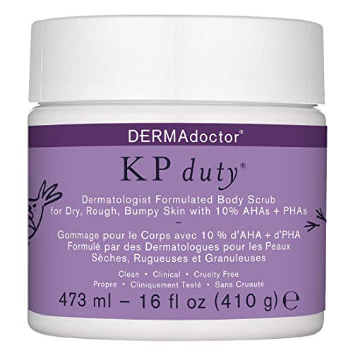 DERMAdoctor KP Duty Dermatologist Formulated Body Scrub Exfoliant for Keratosis Pilaris and Dry, Rough, Bumpy Skin with…