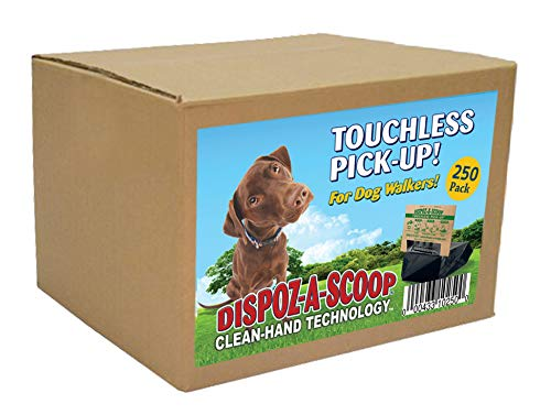 Picture of HealthPro Dispoz-A-Scoop – No Touch, Sanitary Dog Poop Scoopers – 250 Pack