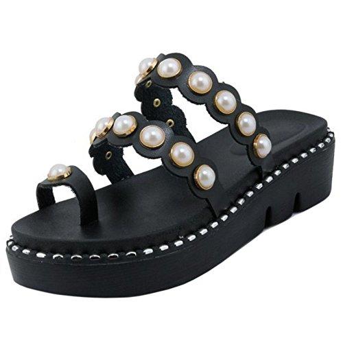 2 Dolce Sandli 4 black Zanpa Donna Way Flatform OqvIS