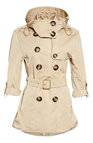 Burberry Brit KNIGHTSDALE Belted Hooded Trench Coat in Honey