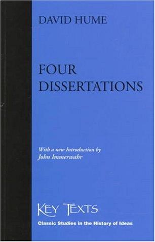Four Dissertations  Key Texts