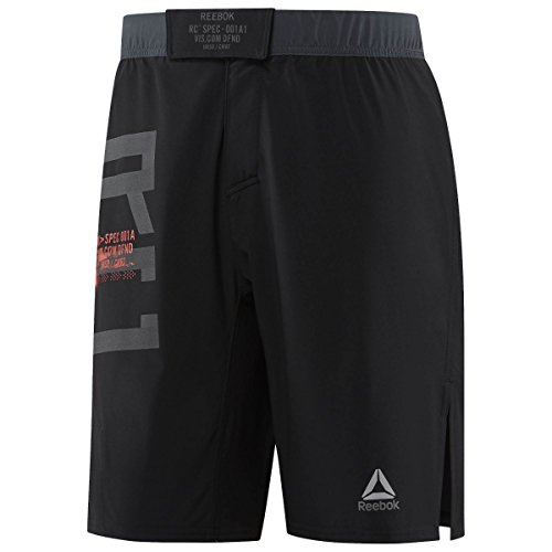 Reebok Men's Combat Mma Shorts Black (Reebok Elastic Waist Shorts)