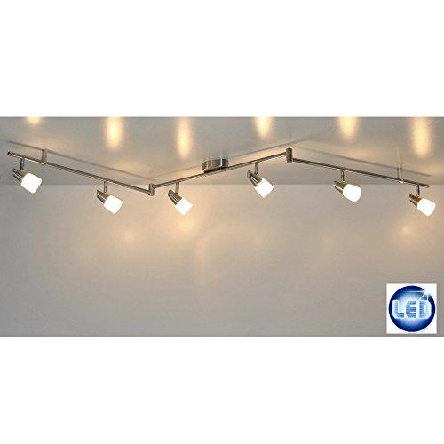 LED Deckenleuchte Lichtleiste 41409757 mit 6x 5W G9 LED Schienensystem