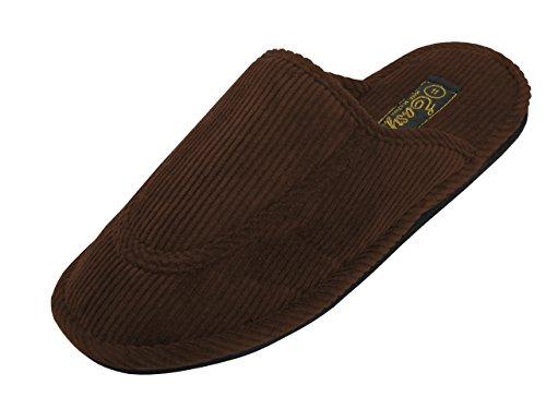Pantofole Da Uomo In Velluto A Coste 555 M Marrone