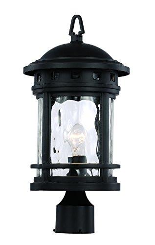 Trans Globe Lighting 40373 BK Outdoor Boardwalk 18.5'' Postmount Lantern, Black by Trans Globe Lighting