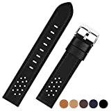 Compatible Samsung S3 Watch Band, Fullmosa Quick Release Watch Strap Compatible Samsung Gear S3 Classic Frontier Watch Band 22mm 18mm 20mm 24mm, 22mm Black