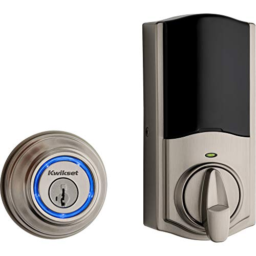 Kwikset 99250-822 Kevo 2nd Gen Refurbished Smart Lock (Renewed), Satin Nickel