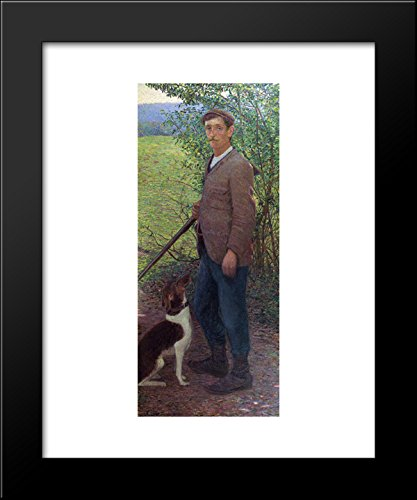 (The Poacher (also known as The Hunter) 20x24 Framed Art Print by Lilla Cabot Perry)