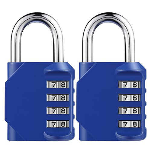 KeeKit Combination Lock, Combination Number Lock, Weatherproof Outdoor Gate Lock, Locker Lock for School, Gym, Employee, Combination Lock for Case, Toolbox, Hasp Cabinet and Storage (Blue) by KeeKit
