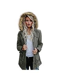 Women's Long Sleeve Winter Warm Jacket Outwear Coat Hooded Changeshopping