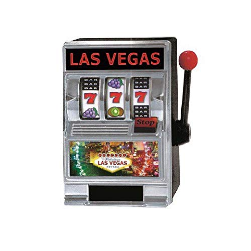 Bargain World L.V. Slot Machine Bank (with Sticky Notes)
