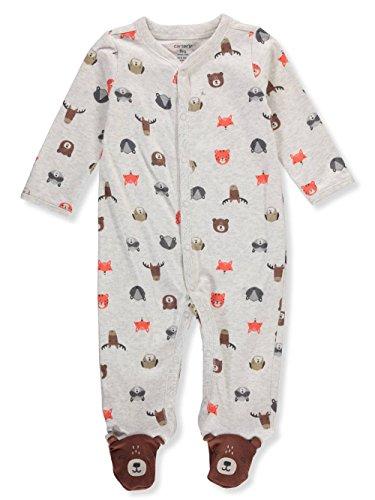 Carter's Baby Boys' Cotton Zip-Up Sleep N Play (Newborn, Wild - Animal Carters