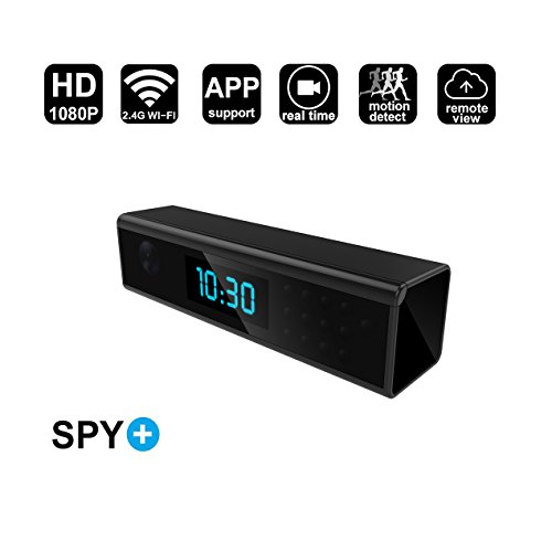 畅销 WiFi Hidden Spy Camera Alarm Clock Style 1080P Wireless Security with Motion Detection,Night Vision,Realtime