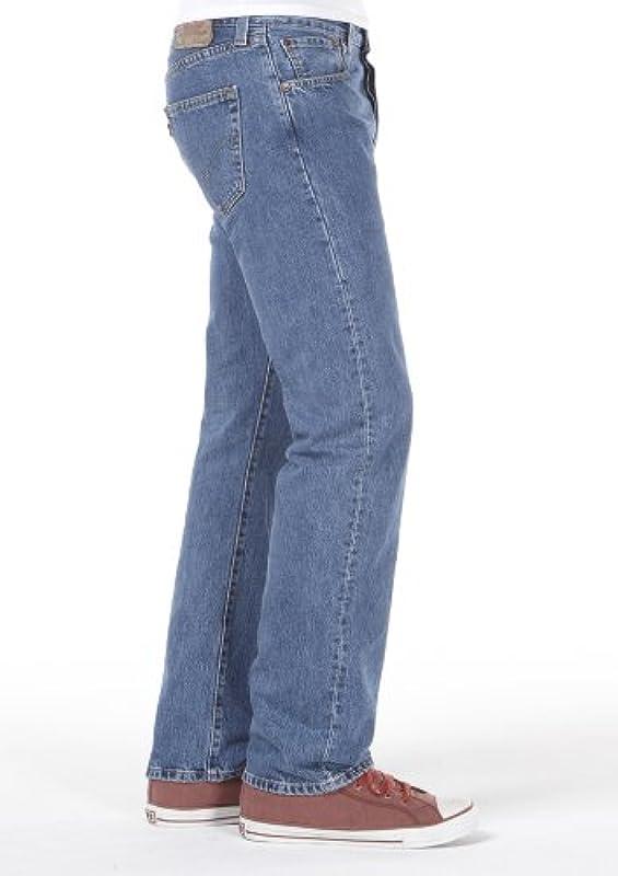 Levi's męskie dżinsy spodnie, 501 proste, denim bez stretchu, ciemnoniebieskie [22206]: Odzież