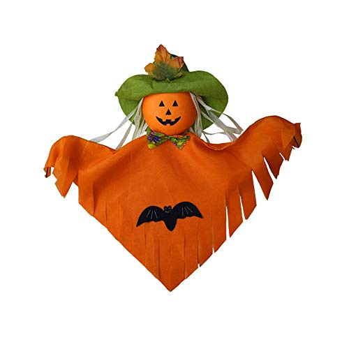 (Manakayla Halloween Hanging Ghost Windsock Spook Fly Witch Scarecrow Pumpkin Doll Orange)