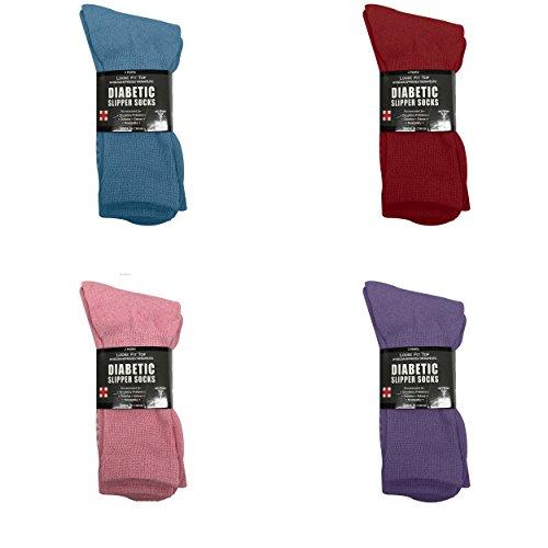 Diabetic-Socks-Ladies-Non-Skid-Hospital-Loose-Fitting-Slipper-Socks-With-Gripper-Bottoms-12-Pack-Savings-Gripper-socks