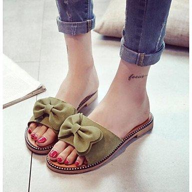 RUGAI-UE Moda de Verano Mujer sandalias casuales zapatos de tacones PU Confort,luz rosa,US8 / UE39 / UK6 / CN39 Green