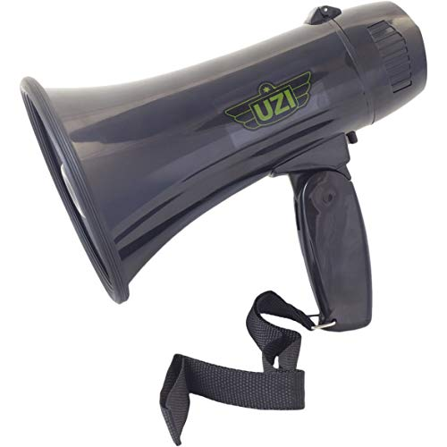 UZI Ultra Mini Megaphone Rated 10W/ MAX 15W with Recording and Repeat Playback,part no.UZI-MP-204R.]()