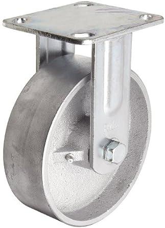 RWM Casters 46 Series Plate Caster, Rigid, Cast Iron Wheel