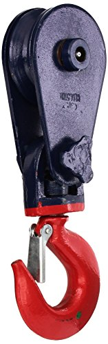 Indusco 16900210 Steel Snatch Block with Swivel Shackle, 4-1/2 ton Load Capacity, 1/2
