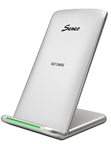 Seneo Wireless Charger, Qi Certified 7.5W Fast Wireless Charging Stand Compatible with iPhone X/ 8/8 Plus, 10W Fast Wireless Charger Stand for Galaxy Note 9/8/5 S9/S9+/S8/S8+(No AC Adapter)