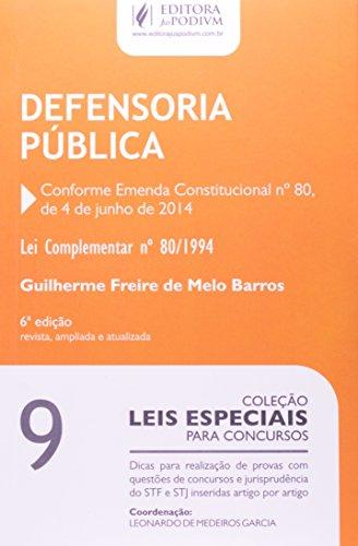 Defensoria Pública. Lei Complementar 80-1994 - Volume 9. Coleção Leis Especiais Para Concursos