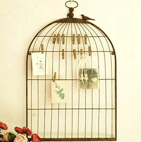 ZAMTAC Birdcage Shabby Chic Memo Notice Board Photo Wedding Table Seating Plan Holder - (Color: Bronze) by ZAMTAC