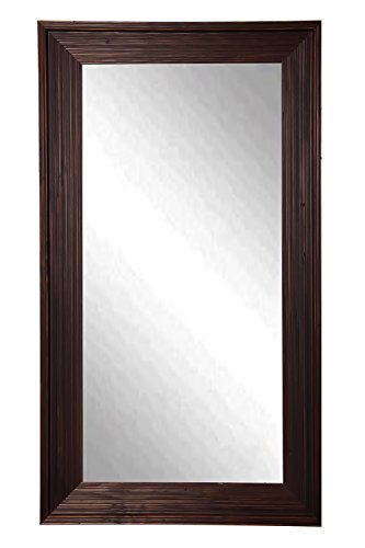 American Made Rayne Barnwood Brown 30.75 x 65.75 Floor Mirror For Sale