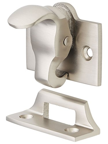 (Forged-Bronze Sash Lock and Lift in Satin Nickel)