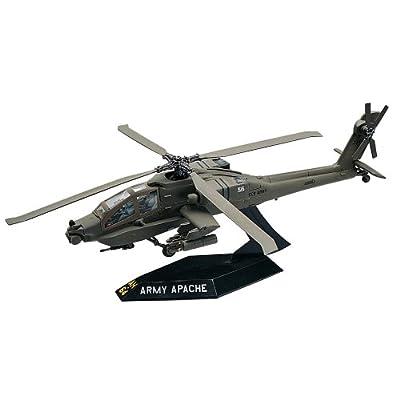 Revell SnapTite Apache Helicopter Plastic Model Kit: Toys & Games