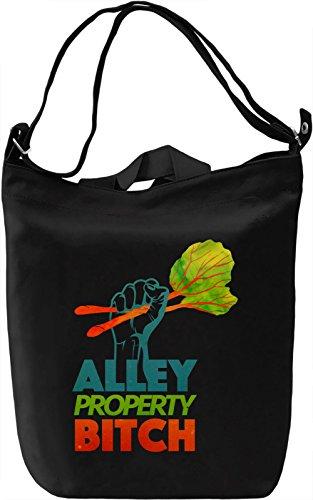 Alley Property Borsa Giornaliera Canvas Canvas Day Bag| 100% Premium Cotton Canvas| DTG Printing|