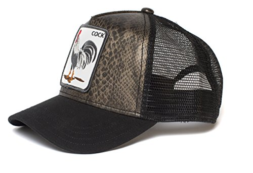Goorin Bros. Men's Animal Farm Snap Back Trucker Hat, Black/Snake Rooster, One Size