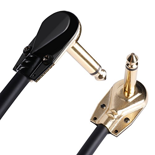 Donner Guitar Patch Cables Right Angle, 15 cm 1/4 Instrument Cables for Effect Pedals 6 Pack - http://coolthings.us