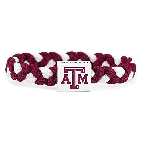 - Glass-U NCAA Game Day Nylon Woven Bracelet - Texas A&M Aggies