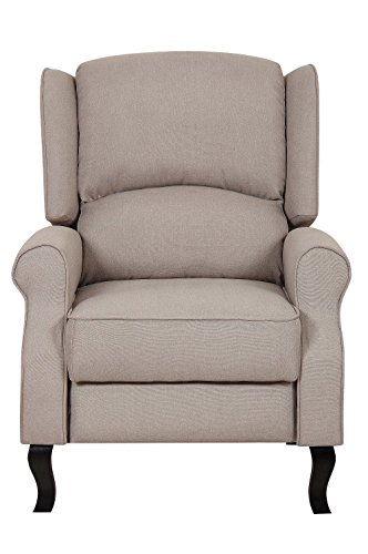 Beige Contemporary Fabric Recliner Sofa