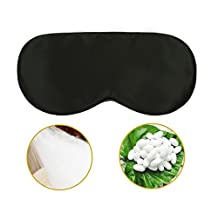 P&J Health 100% natural silk sleep mask super comfortable and pure silk soft eye mask with adjustable strap, 0.63 Ounce