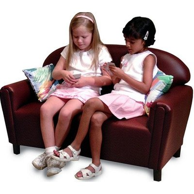 Youth Kids Furniture (Brand New World School Age Premium Vinyl Upholstery Sofa - Port Burgundy)