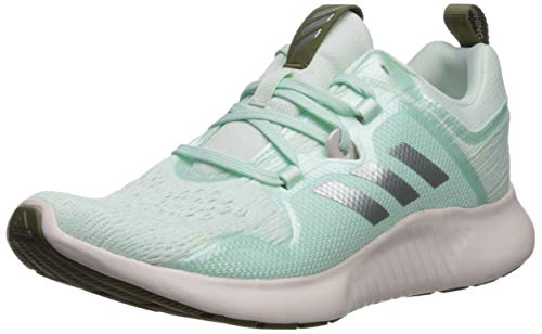 adidas Women's Edgebounce, ice Mint/Silver Metallic/raw Khaki, 11 M US