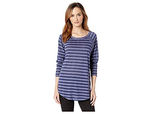 Mod-O-Doc Women's Tonal Stripe Mixed Stripe Raglan Sleeve Tee Blueprint Large