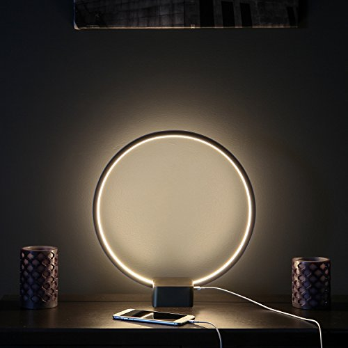 Brightech Circle Led Usb Table Amp Desk Lamp Bright Orb