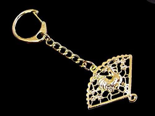 Amazon.com: Feng Shui Gallo en un ventilador amuleto Llavero ...
