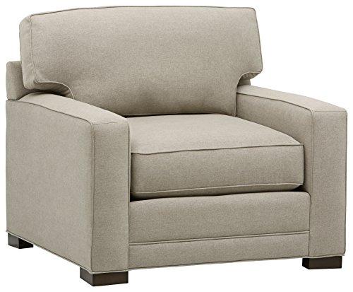 Stone & Beam Dalton Performance Fabric Living Room Accent Arm Chair, 41.5'W, Stone