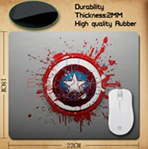 100 New Popular Film America Captain Logo Mouse Pad computer mouse pad