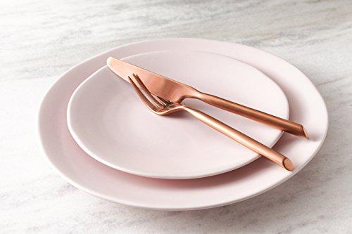 Fortessa Vitraluxe Dinnerware Heirloom Matte Finish Bread & Butter Plate 6.25-Inch, Blush, Set of 4 by Fortessa (Image #1)